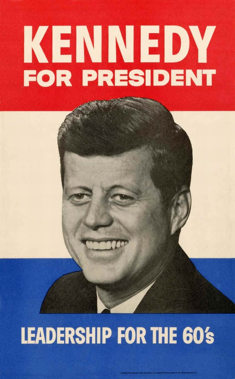 1960 John F. Kennedy Campaign Poster Appeals to America